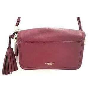 Coach Burgundy Leather Legacy Penny Crossbody Bag